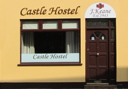 exterior castle hostel kerry