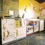 Kitchen with Aga cooker